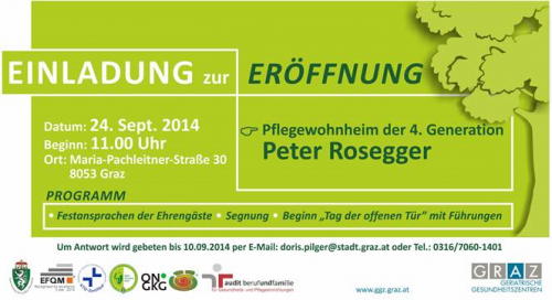 Peter Rosegger Eroeffnung