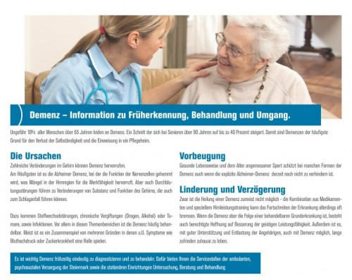 Informationen zu Früherkennung, Behandlung und Umgang